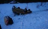 Podhale: Spadł śnieg i na drogach zrobiło się niebezpiecznie. Mamy serię wypadków i kolizji [ZDJĘCIA]