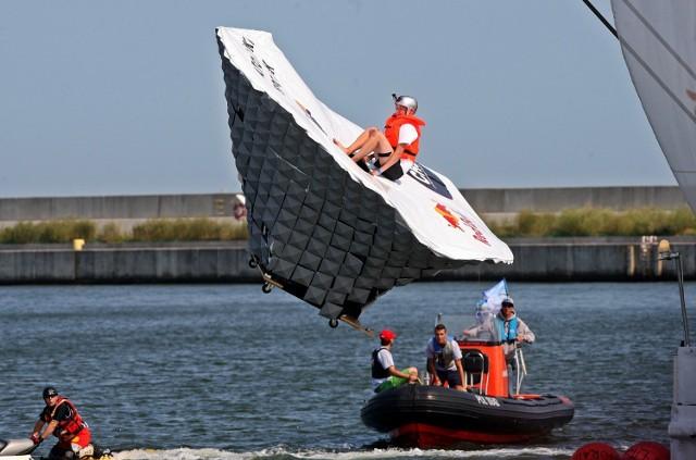 Tak wyglądała zabawa podczas Konkursu Lotów Red Bull w 2015 roku w Gdyni.