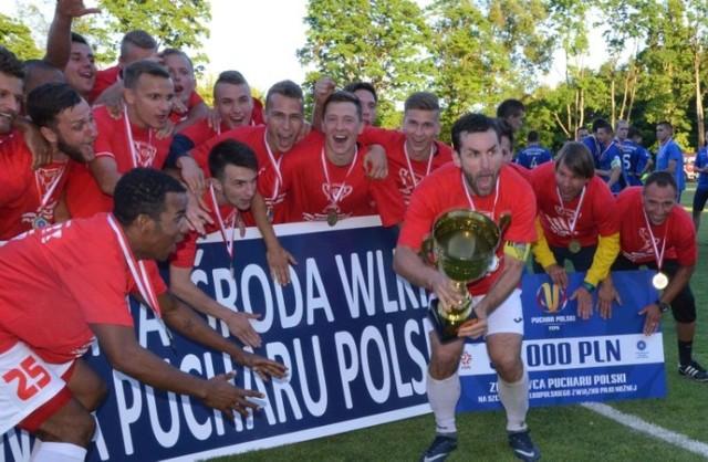 Piłkarze Polonii Środa w poprzednim sezonie wygrali regionalne rozgrywki Pucharu Polski