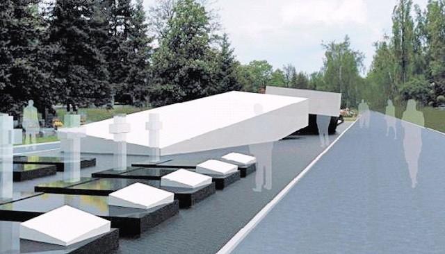 Wizualizacja pomnika, który ma powstać na Cmentarzu Powązkowskim w Warszawie.