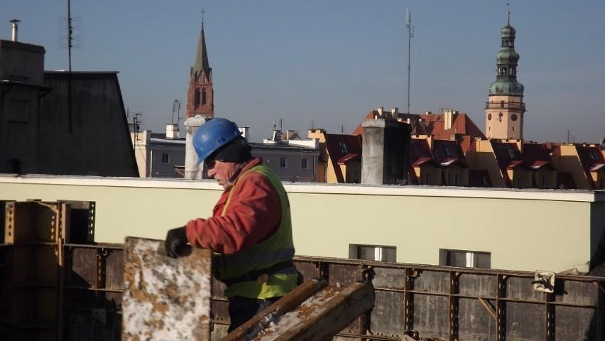 To widok Oławy z dachu Ośrodka Współpracy Europejskiej