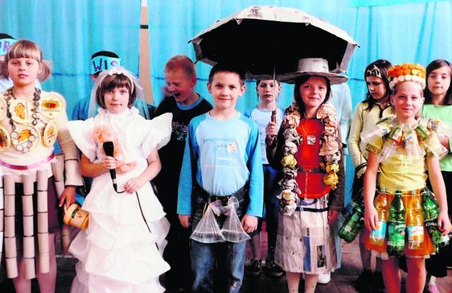 Pokaz mody ekologicznej  uczniów Szkoły Podstawowej nr 1