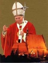 Procesja różańcowa przed Dniem Papieskim