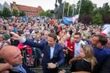 Rafał Trzaskowski w Szczecinie. Na spotkanie z kandydatem przyszły tłumy ludzi