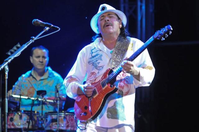 Carlos Santana w Dolinie Charlloty w 2013 roku. Artysta znów wystapi w amfiteatrze pod Słupskiem.