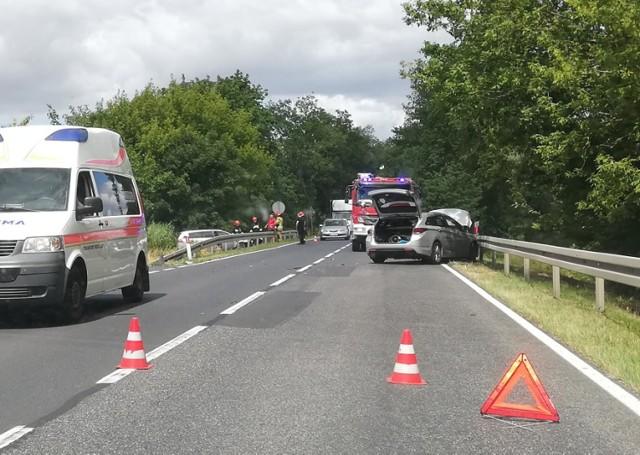 Do kolizji doszło na drodze krajowej nr 22 w okolicy Kostrzyna nad Odrą.