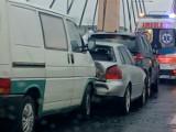 Wypadek w Toruniu. Na moście gen. Zawackiej zderzyło się 5 samochodów
