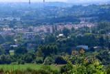 Osiedla, fabryki, elektrownię, autostradę, zamek... Co widać dziś z Góry Dorotki w Będzinie? Zobaczcie ZDJĘCIA