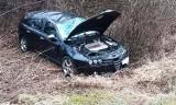 Wypadek pod Nowym Sączem. Samochód osobowy wypadł z DK 75