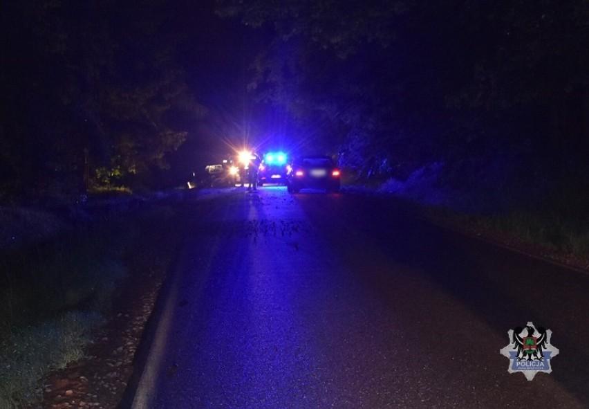 Pijany kierowca z Wałbrzycha rozbił auto na skarpie