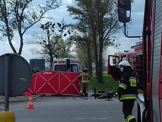 Wypadek na obwodnicy Grodkowa. Motocyklista zginął po zderzeniu z audi.