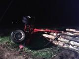 Kobylin - Wypadek pod Smolicami. Kierowca w szpitalu. ZDJĘCIA
