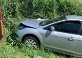Zderzenie samochodu i maszyny rolniczej na trasie Szamocin - Białośliwie [ZDJĘCIA]