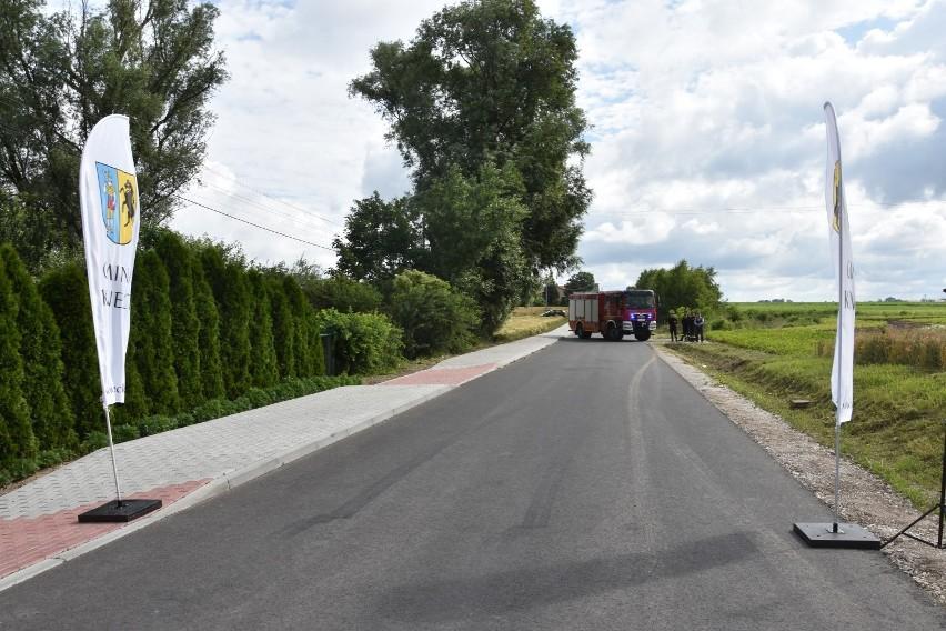 Uroczyste otwarcie zmodernizowanej drogi odbyło się w...
