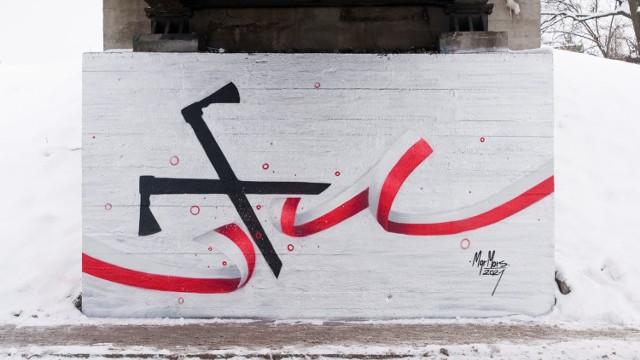 """Symbol akcji """"Góralskie Veto"""" w Nowym Sączu"""