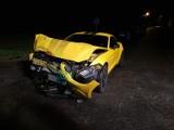 Sportowy Mustang zderzył się z karetką pogotowia! [FOTO]