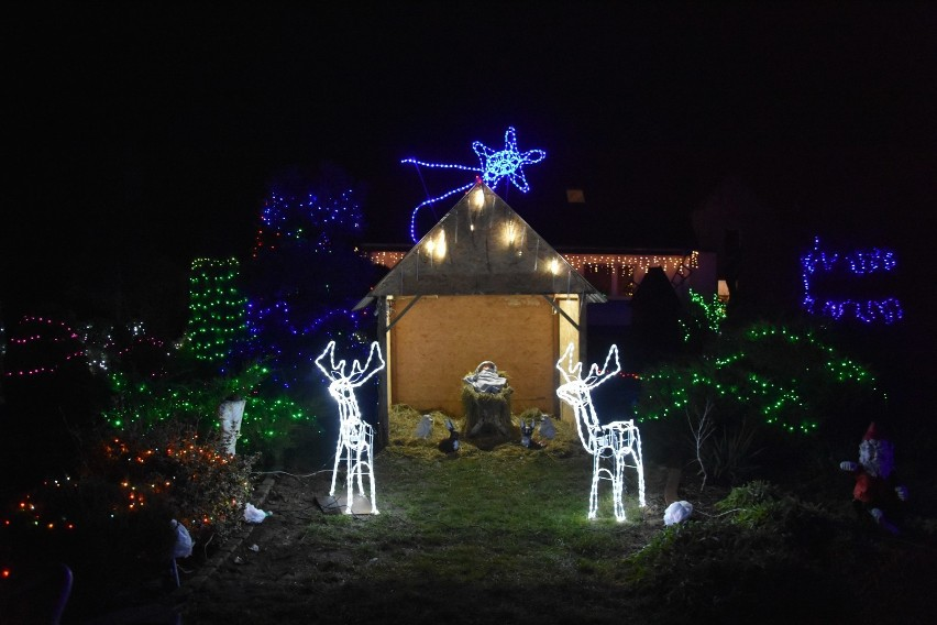 Pani Sołtys choinkowymi światełkami rozświetliła całą wieś