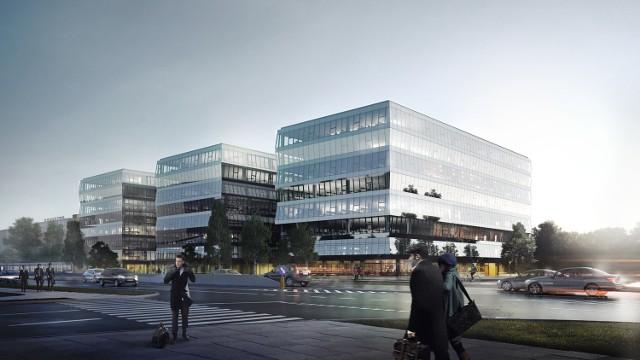 Nowy kompleks biurowców przy ulicy Wadowickiej w Krakowie