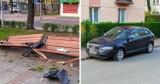 O włos od tragedii w Częstochowie! Pirat drogowy wjechał w ławki na placu Orląt Lwowskich