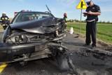 Sześć osób rannych w wyniku wypadku na drodze krajowej nr 7 w Koszwałach. Wszyscy trafili do szpitala [ZDJECIA]