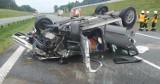 Szczepanów. Wypadek na A4, jedna osoba została ranna [ZDJĘCIA]