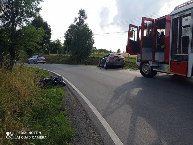 Do wypadku doszło na drodze powiatowej w Tymowej