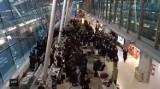 Tłum tańczących Żydów na lotnisku Chopina. Bez maseczek i dystansu