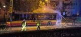 Nocny pożar autobusu w Bytomiu. Co tam się wydarzyło?