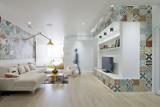 Pomysł na salon – płytki na ścianę