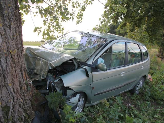 W powiecie radziejowskim pijana 23-latka uderzyła w drzewo