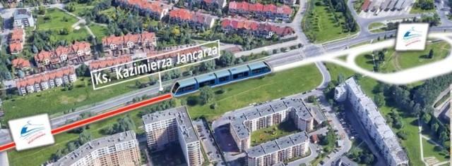 Nowa linia do Mistrzejowice ma być gotowa w 2024 r. W ramach inwestycji rozbudowana zostanie pętla tramwajowa przy ul. Jancarza.