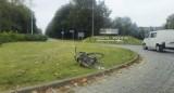 Wypadek na rondzie wjazdowym do Pucka: rowerzystka trafiła do szpitala | ZDJĘCIA, NADMORSKA KRONIKA POLICYJNA