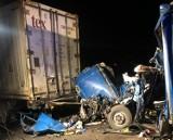 Śmiertelny wypadek na autostradzie A1 11.02.2021. Zderzyły się trzy samochody ciężarowe. Jedna osoba poniosła śmierć