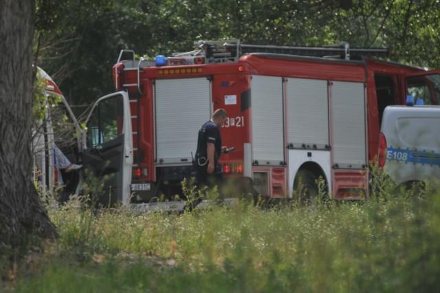 W akcji poszukiwawczej udział wzięli strażacy
