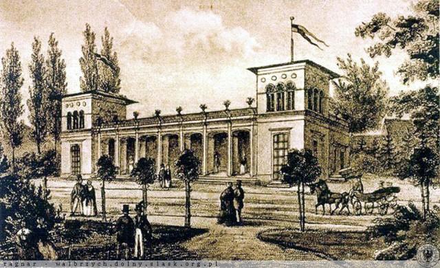 Lata 1850-1870  Hala Spacerowa na ulicy Pocztowej. Już jej nie ma.
