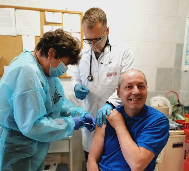 Szczepienia w DPS w Orzeszu