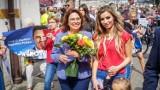 Kidawa  - Błońska  w Lesznie  i zwolennicy Andrzeja Dudy na Rynku