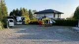 Groźny wypadek w Katowicach. Starszy mężczyzna spadł z dachu. Na miejscu lądował śmigłowiec LPR