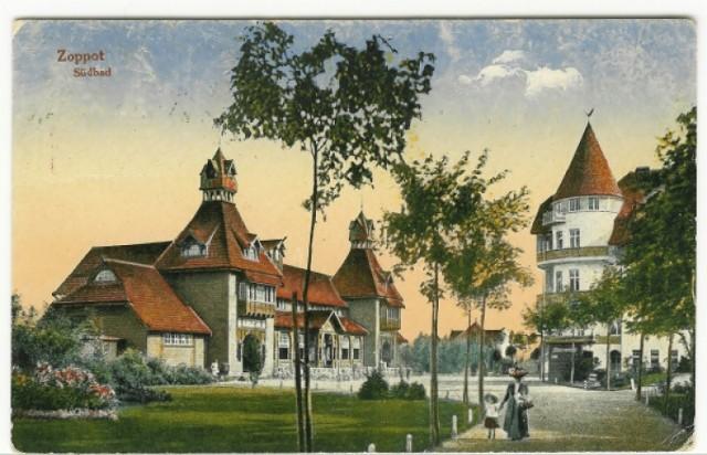 Sopockie molo, hotel Grand, plaża w Sopocie i ul. Bohaterów ...