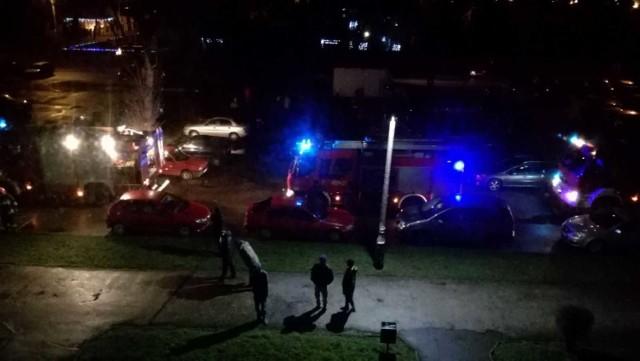 Pożar w Czeladzi: paliła się piwnica bloku na os. Dziekana