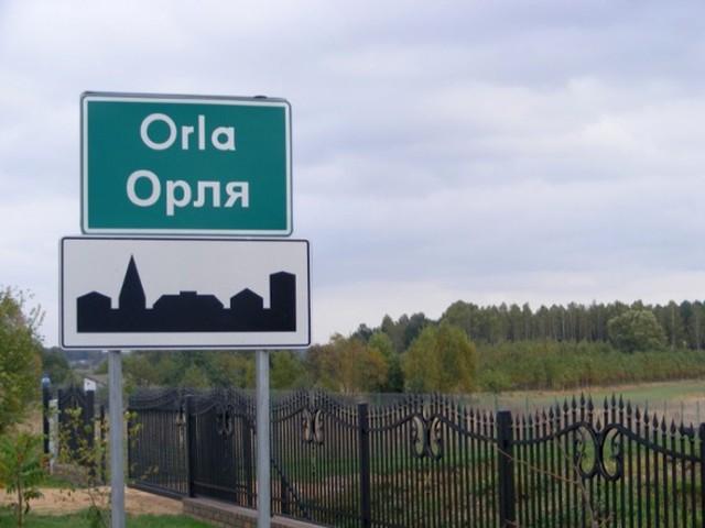 Dwujęzyczne tablice w gminie Orla zostały zniszczone