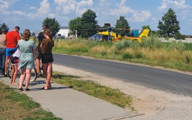 Gmina Gniezno. Wypadek na budowie. Mężczyzna trafił do szpitala