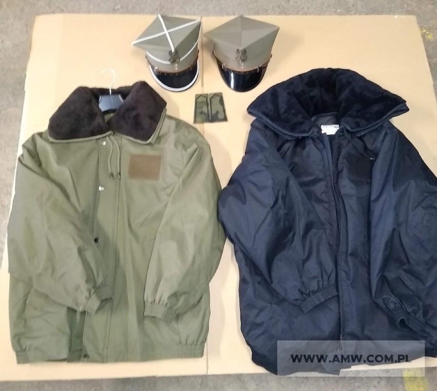 Artykuły mundurowe - pakiet zawierający 5 poz. asort. (wg...