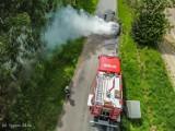 Pożar samochodu w Psim Polu [ZDJĘCIA]