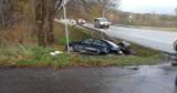 Wypadek drogowy w Zimowiskach pod Ustką. Kierująca volkswagenem w szpitalu