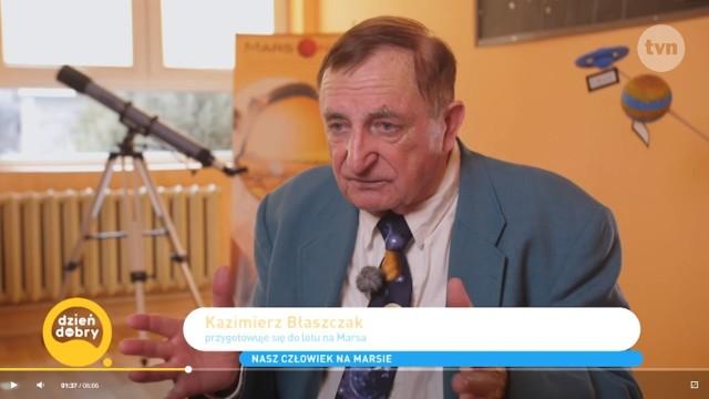 """Kazimierz Błaszczak w """"Dzień dobry TVN"""". Emeryt z Wieruszowa nadal marzy o locie na Marsa"""