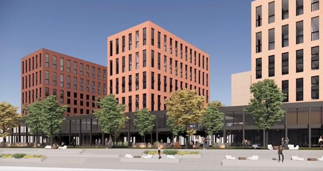 Kompleks planowany przy ulicy Grundmanna w Katowicach.  Zobacz kolejne zdjęcia. Przesuwaj zdjęcia w prawo - naciśnij strzałkę lub przycisk NASTĘPNE
