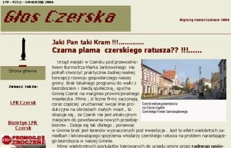 Nowa strona internetowa czerskiej opozycji.