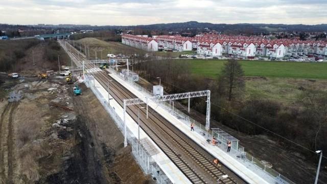 Przystanek Kraków Opatkowice w okresie budowy