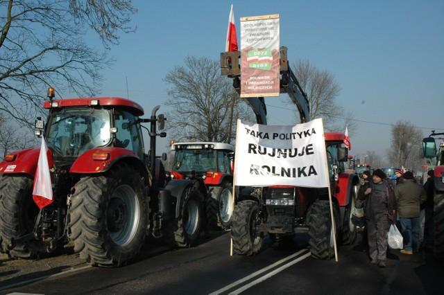 Rolnicy protestowali pod Biłgorajem